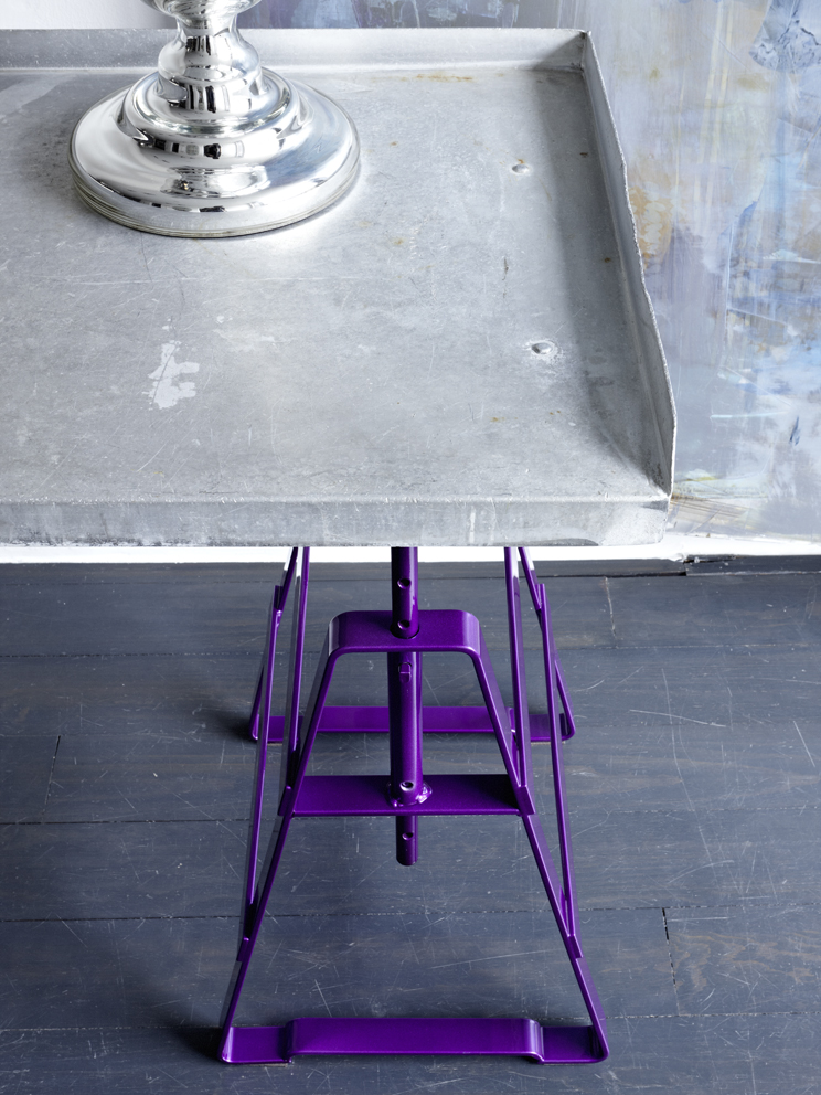 Design Thesenfitz & Wedekind A height adjustable trestle made from crude steel powder-coated