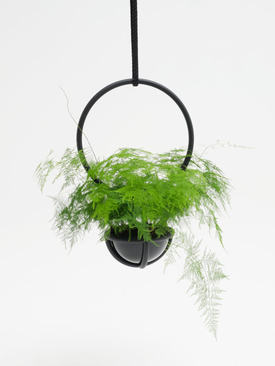 Blumenkugel, hangingplants object from Zascho Petkow and Andreas Haussmann, vase Pvc