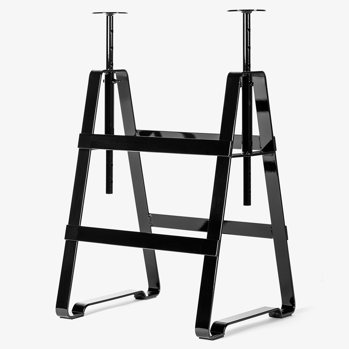 Design Thesenfitz & Wedekind A height adjustable trestle made from crude steel powder-coated in black glossy