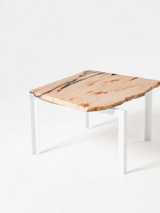 Petite Table d'angle Beistelltisch von Hervé Humbert für Atelier Haussmann Stein Nr.013 Unikat