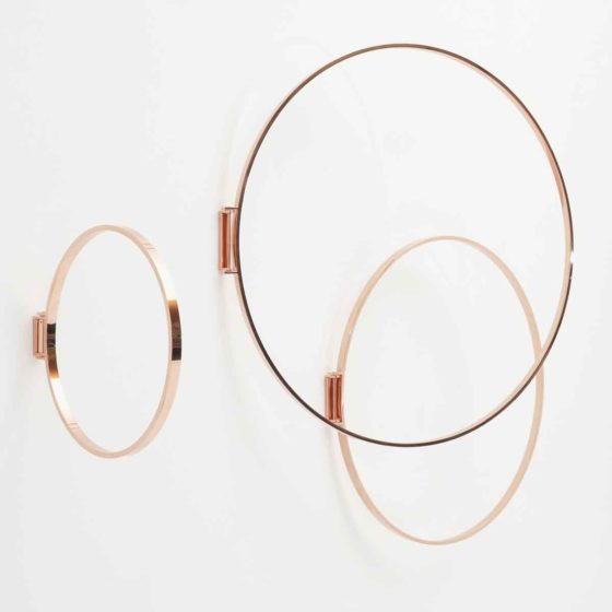 Wandobjekt Zascho Petkow, Kupfer Ring, Garderobe