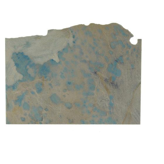 PETITE TABLE D'ANGLE von Hervé Humbert für Atelier Haussmann, Beistelltisch mit Marmor Reststück, Stein 032