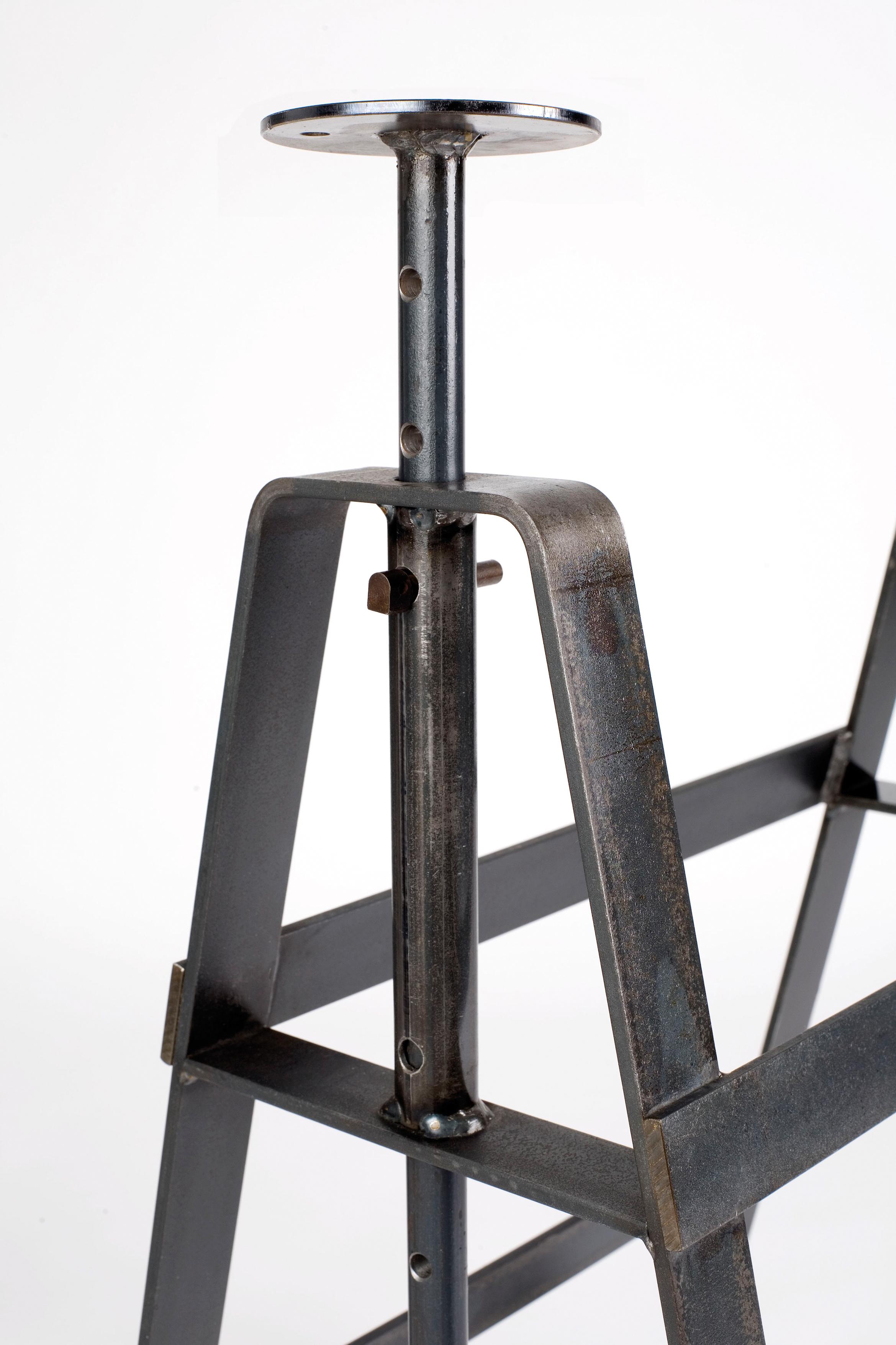 Affe Rohstahl Tischbock Tischgestell brüniert Atelier Haußmann