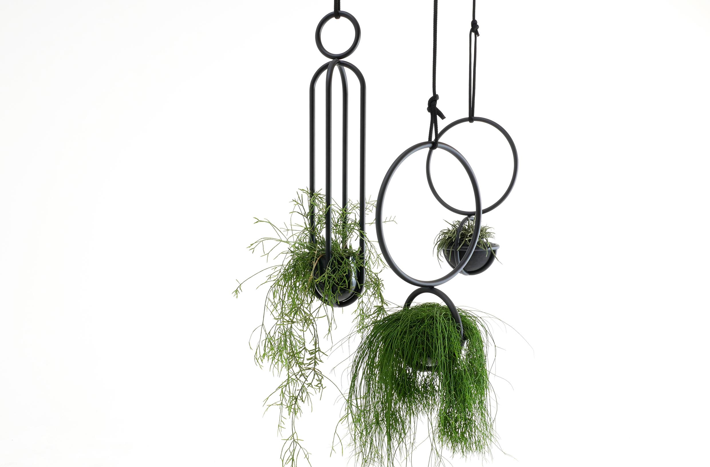 Blumenkugel Blumenampel Stahl schwarz Pflanze Atelier Haußmann
