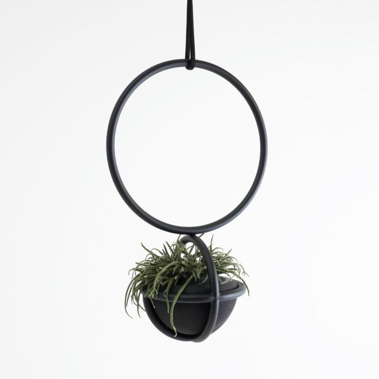 Blumenkugel ist wie eine Blumenampel, ein hängendes Raumobjekt für Pflanzen und Blumen