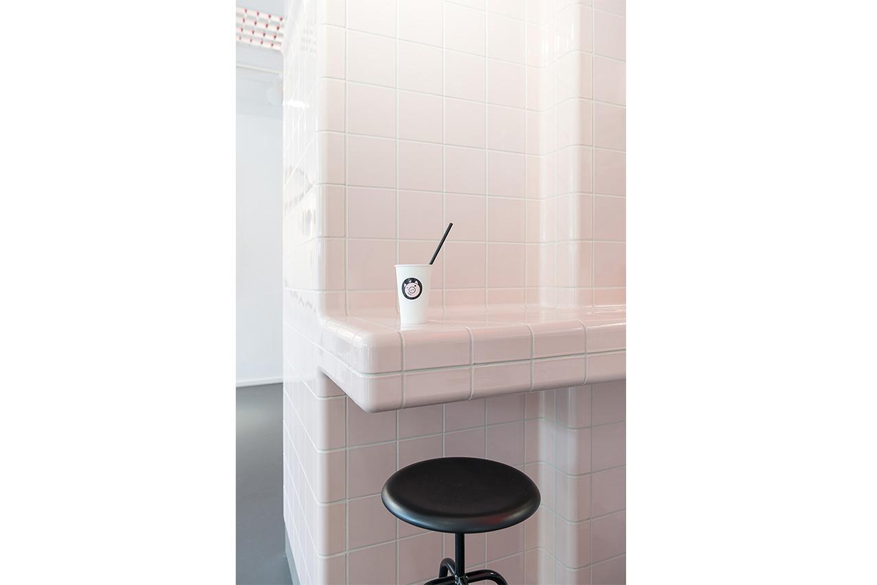 Dandy Diner interior design from Studio Karhard, Herrenberger stool from Atelier Haussmann