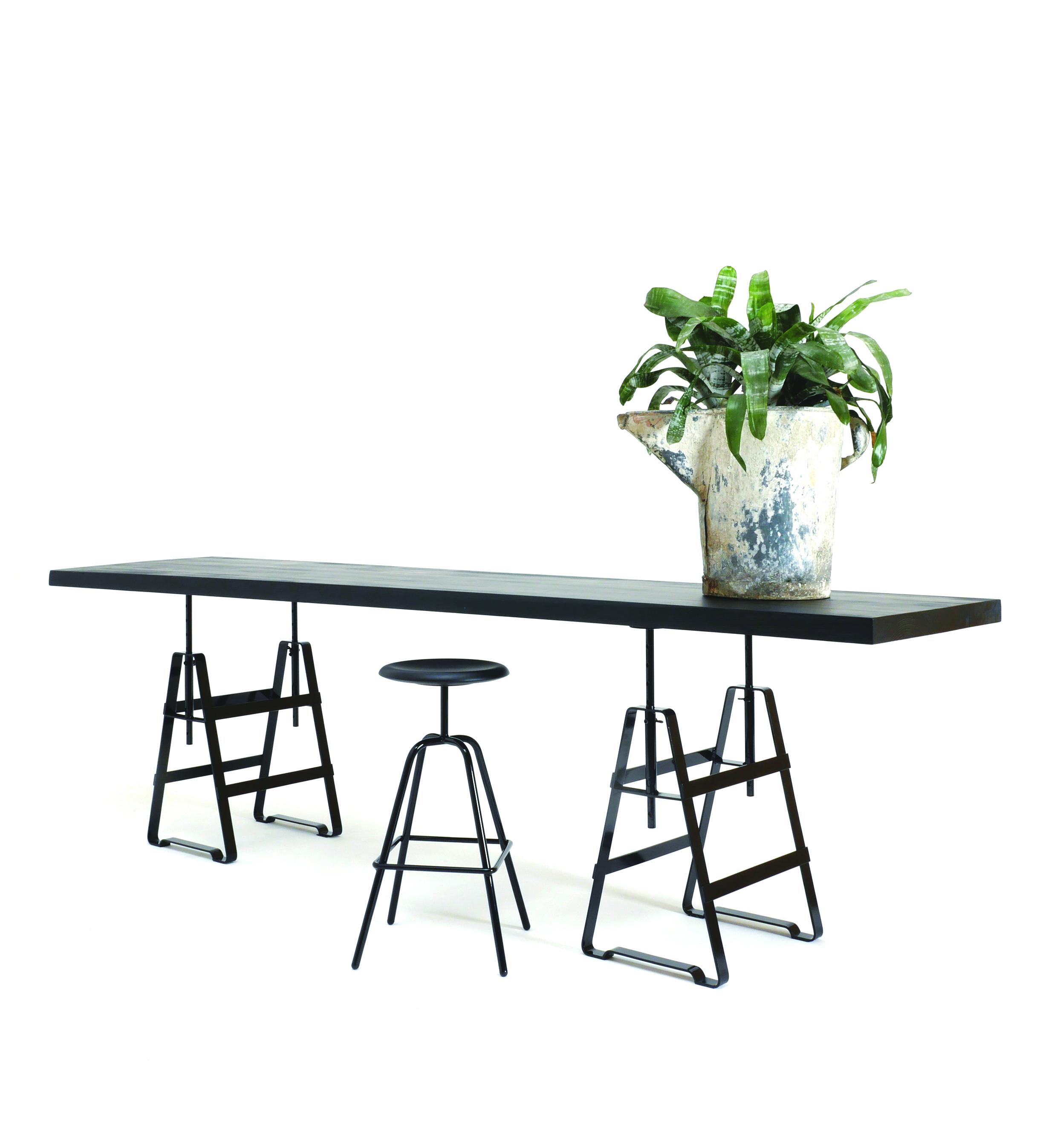 Lackaffe Tischbock Tischgestell Stahl Herrenberger Hocker Atelier Haußmann