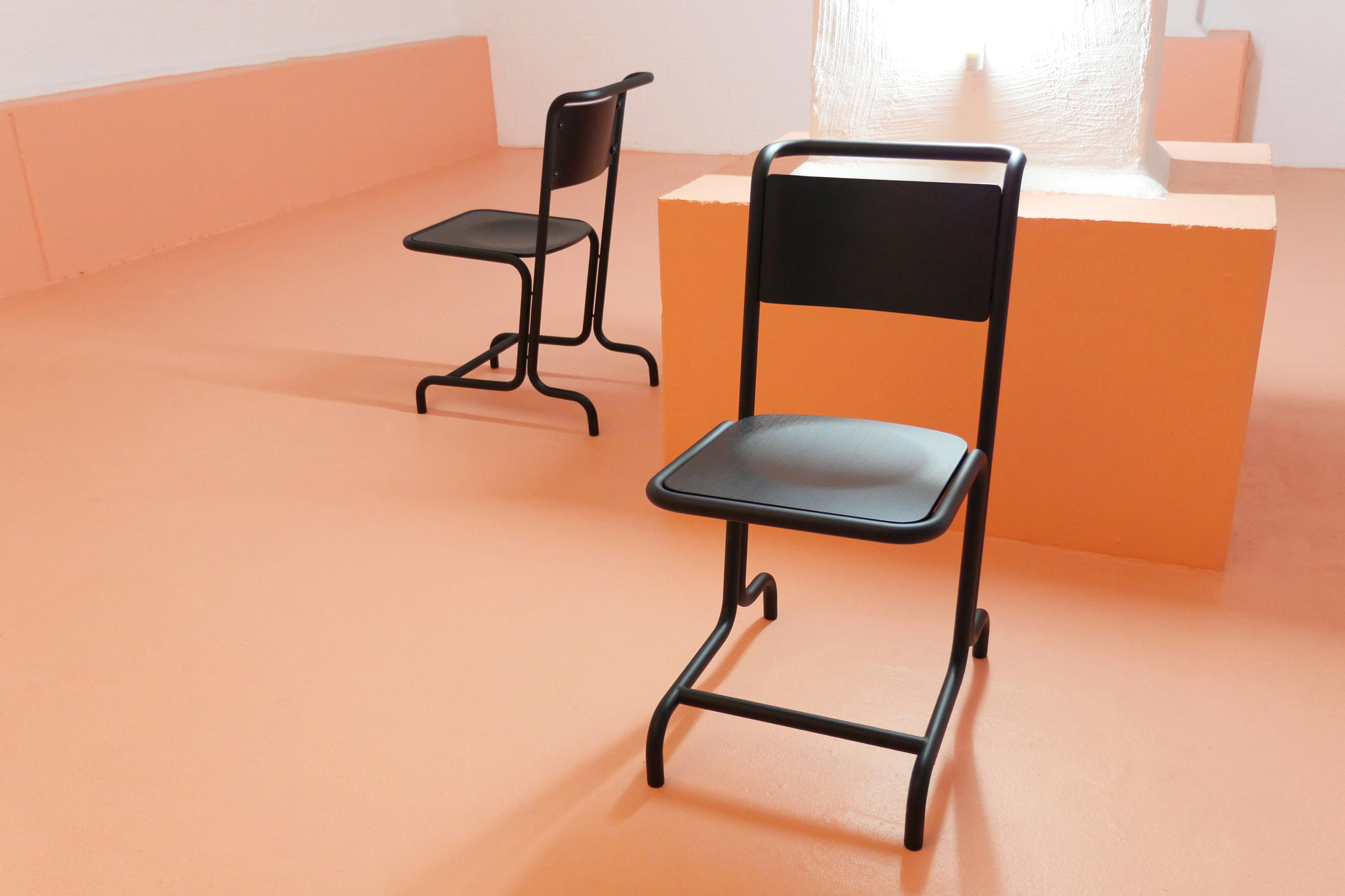 Laszlo stool by Andrew Weißert, is a iron stool