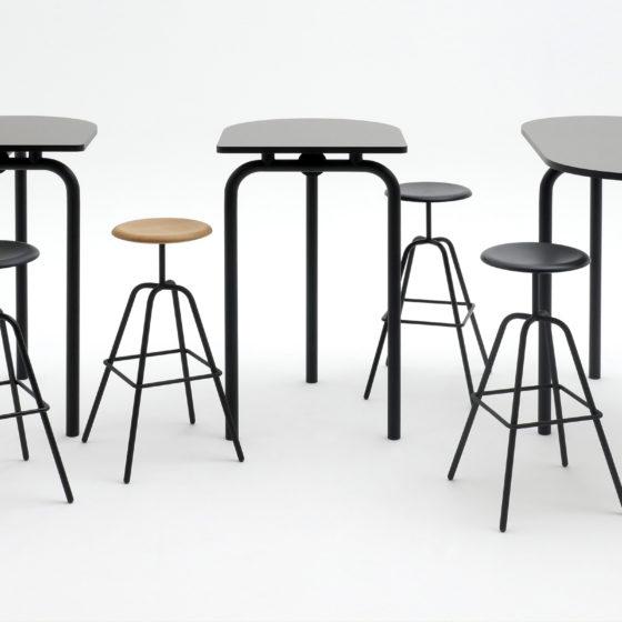 AtelierHaussmann-tables-Piombino Alto ensemble, 3 and 4 legs